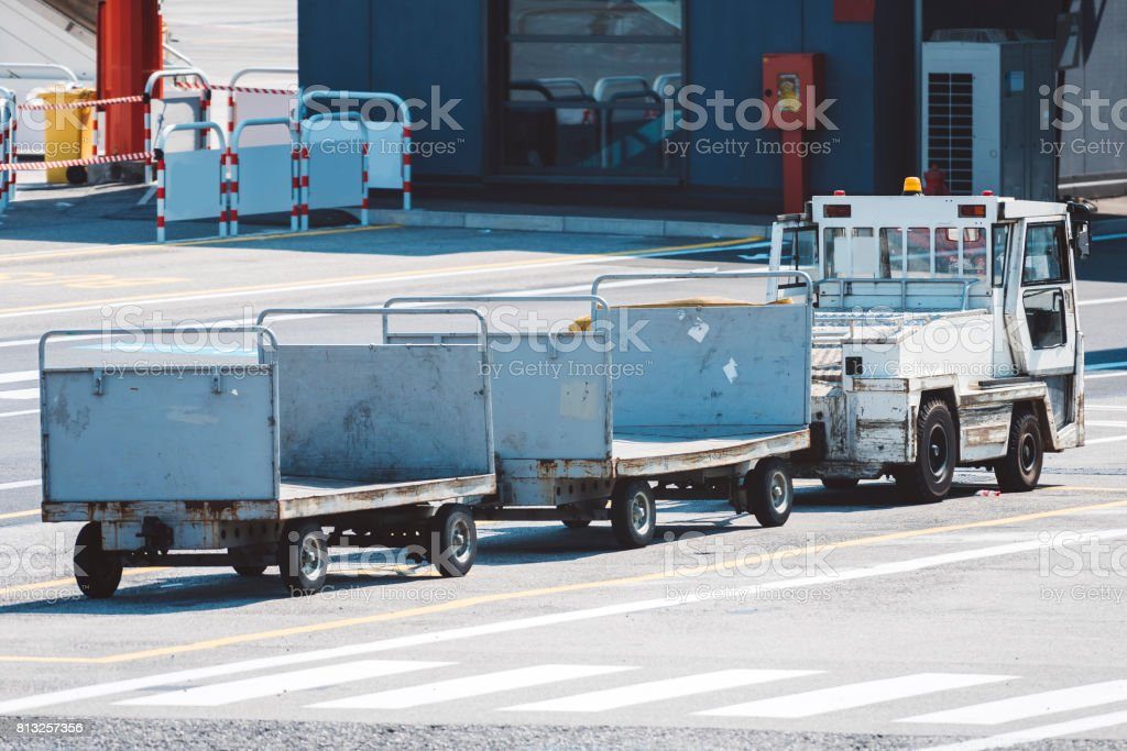 Luggage, Freight Transportation, Metal, Transportation, Airport