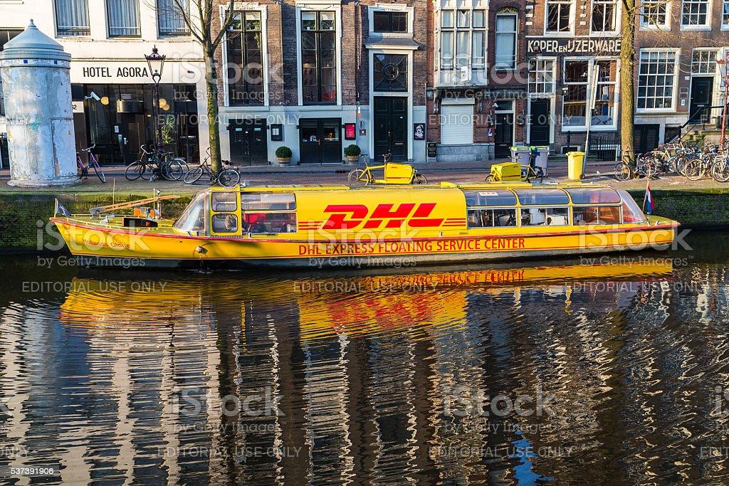 DHL Service Center Boat stock photo