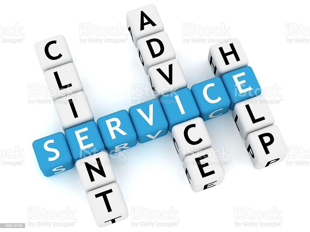 Service Crossword royalty-free stock photo