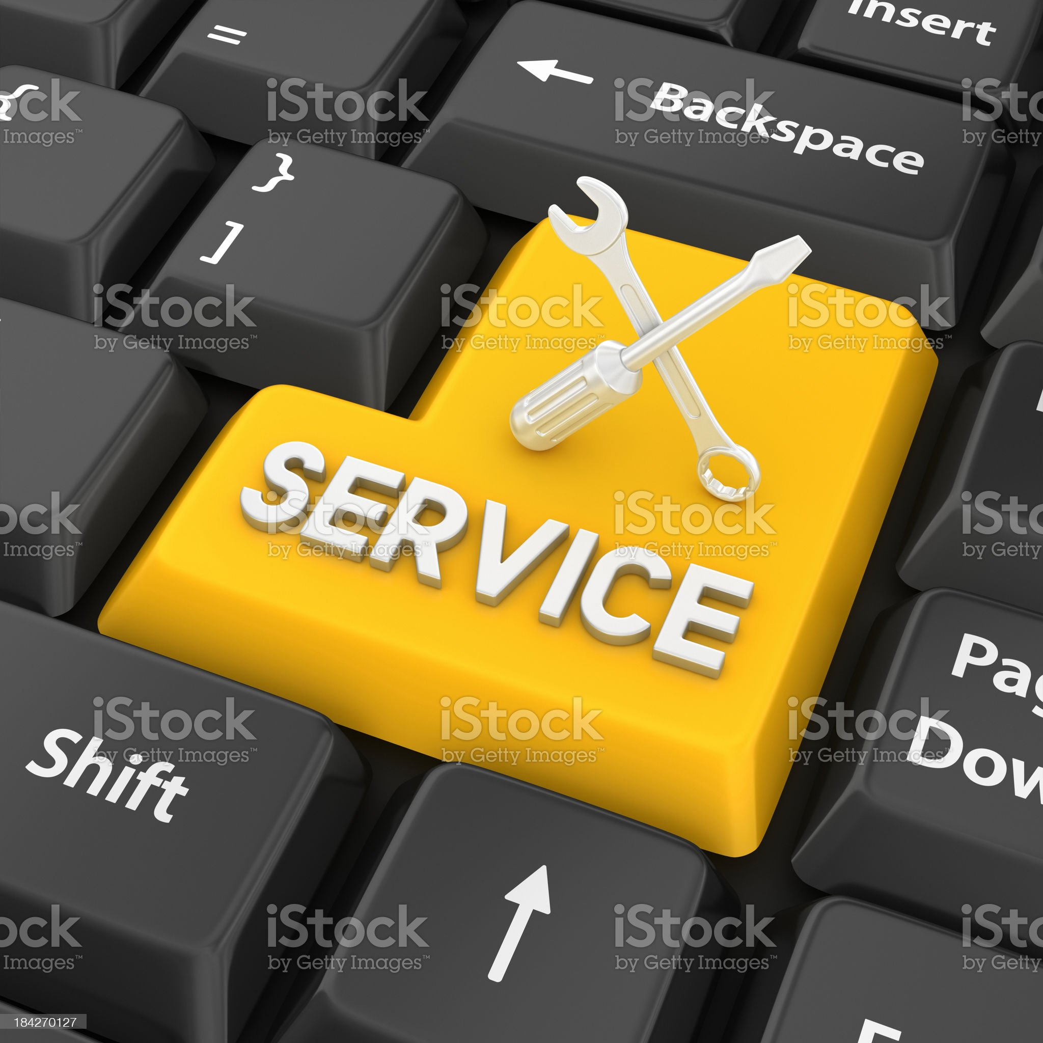 service enter key royalty-free stock photo