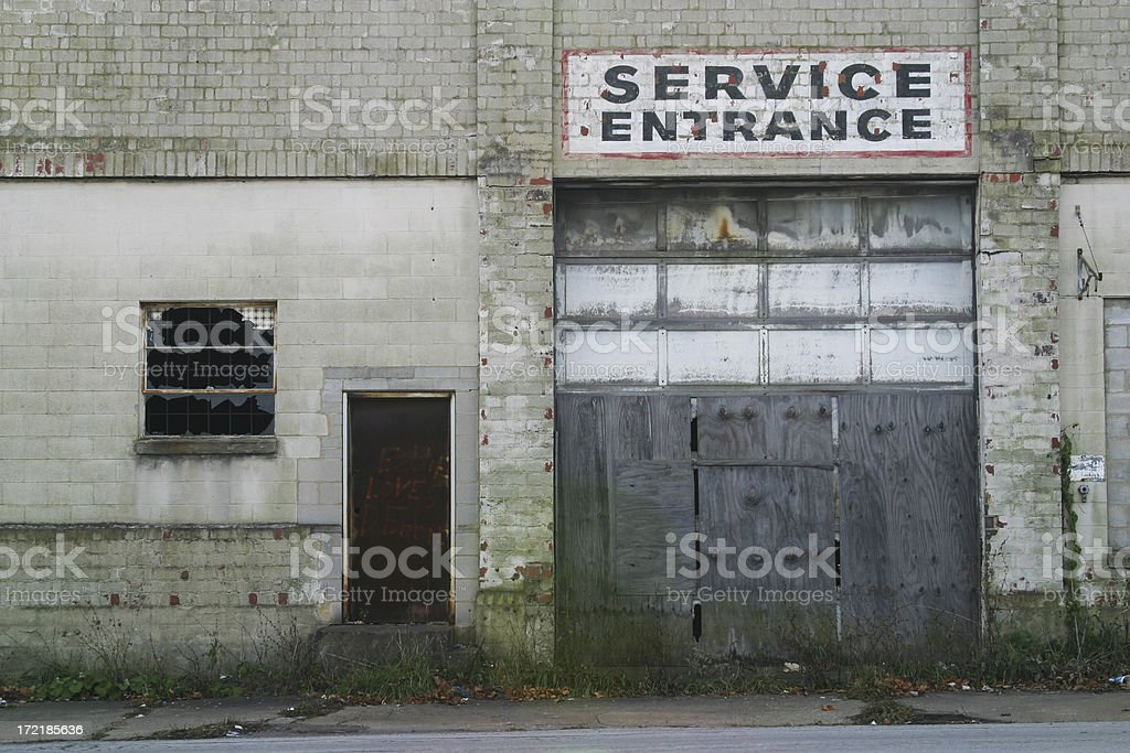 Service Entrance Sign royalty-free stock photo