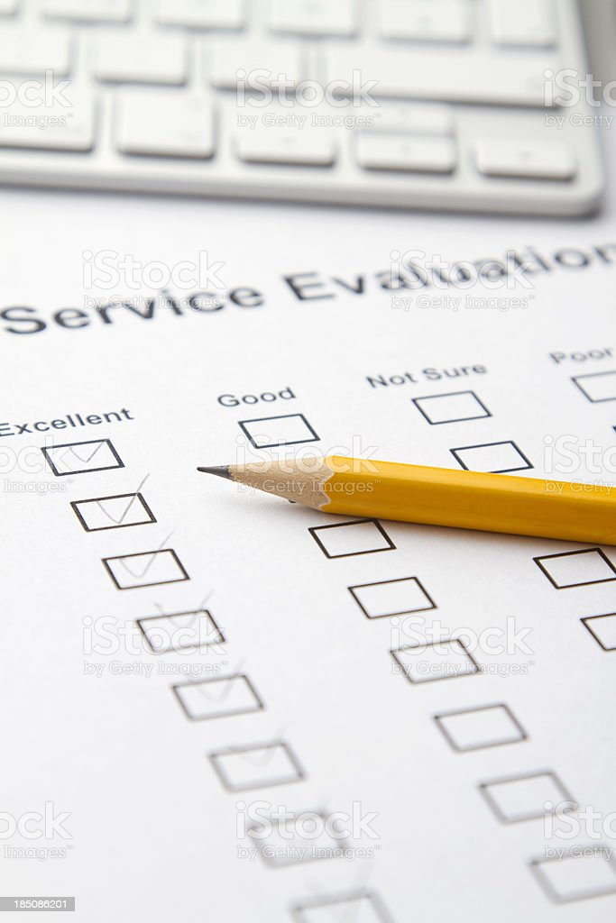Service Evaluation stock photo
