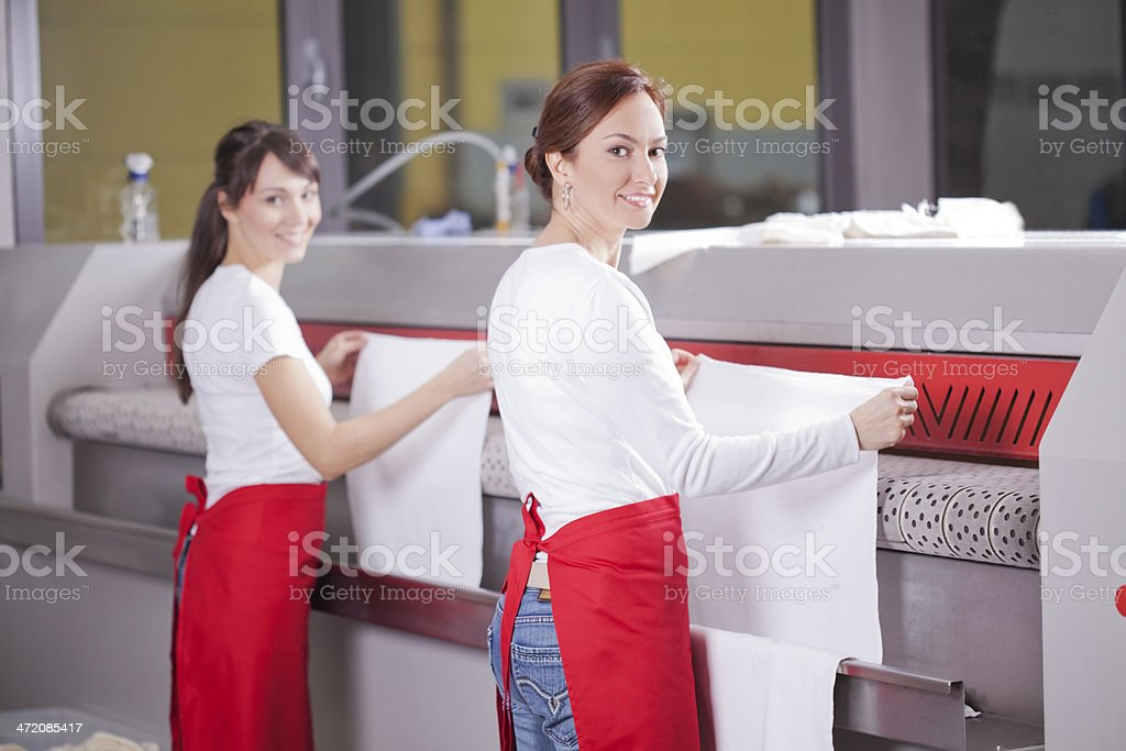 Service for laundry and ironing. stock photo