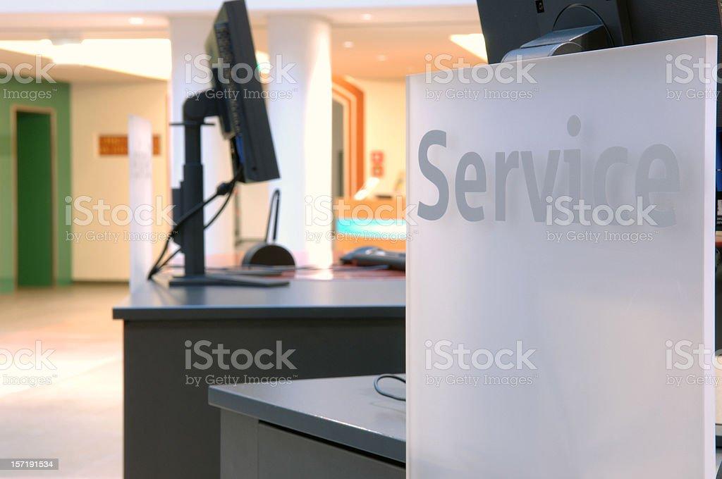 service hall royalty-free stock photo