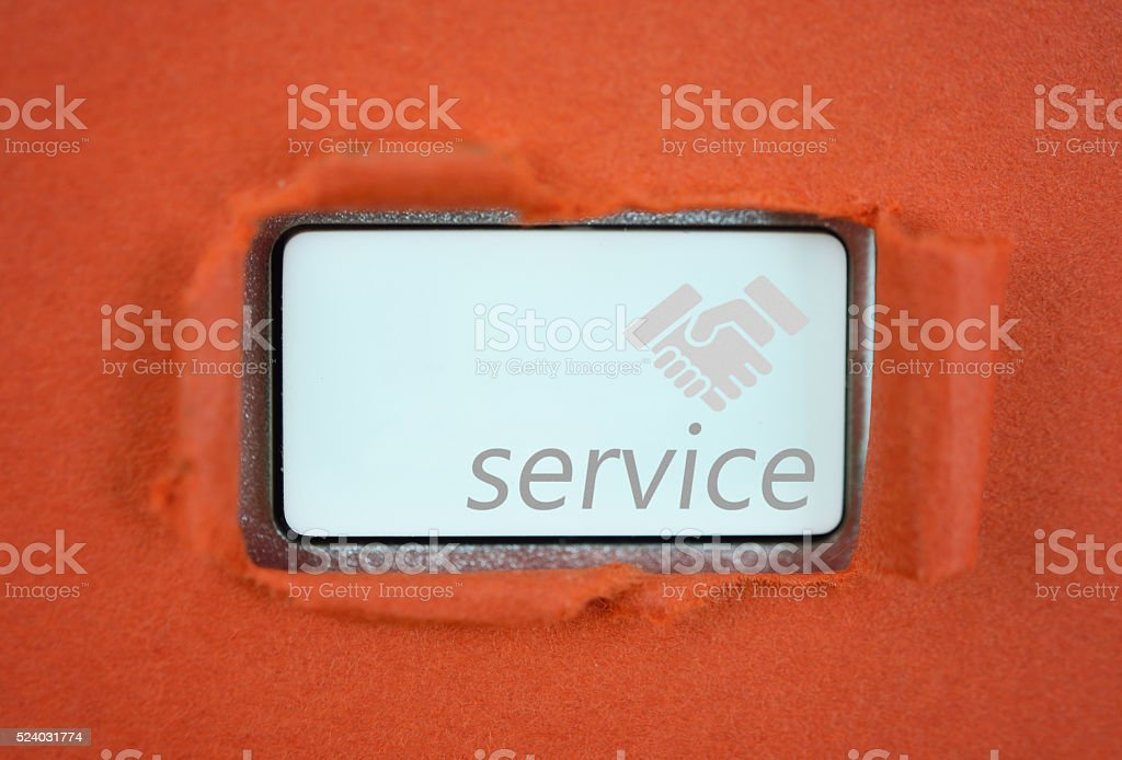 Service key concept stock photo
