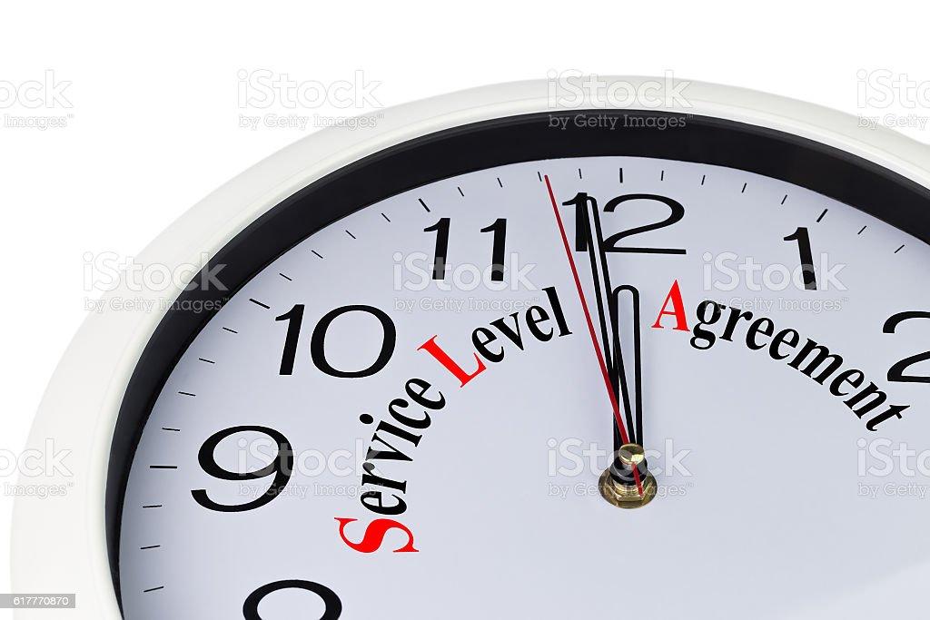 service level agreement stock photo