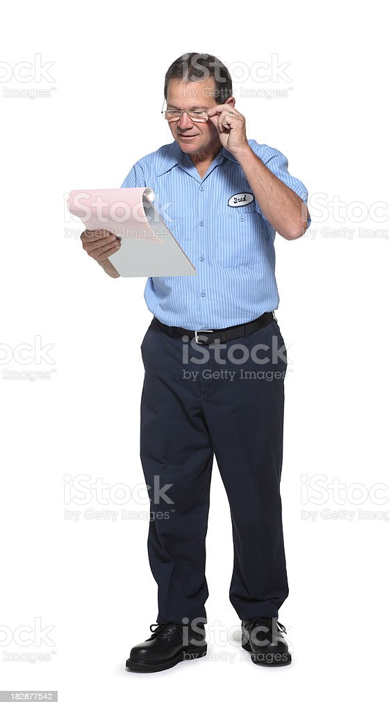 Service Man royalty-free stock photo