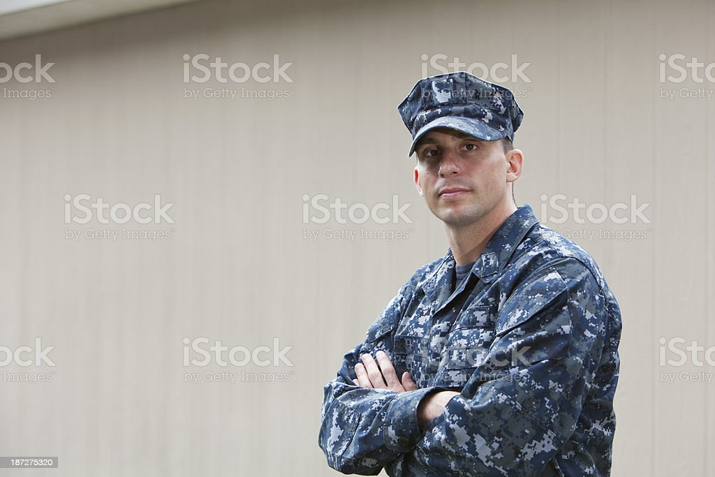US service man stock photo