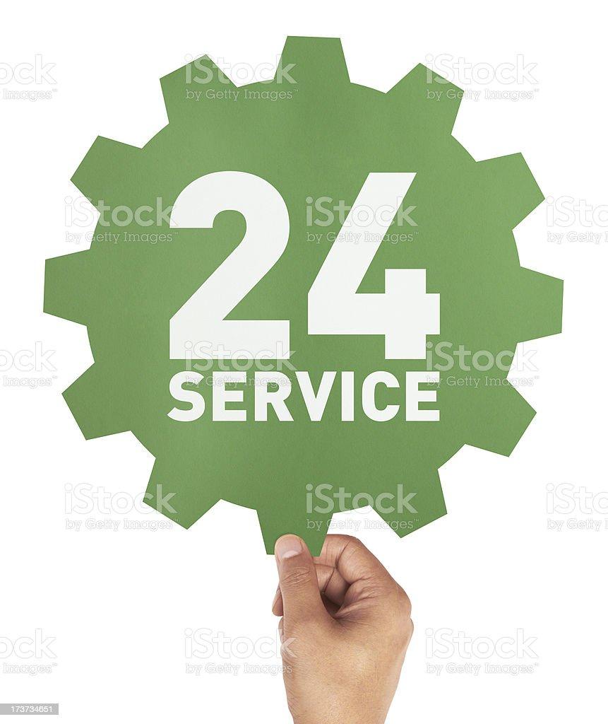 24 Service stock photo