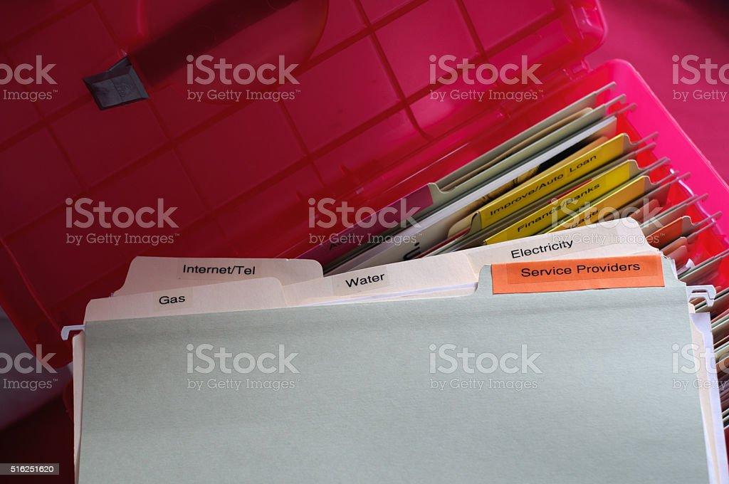 Service Providers Documents stock photo