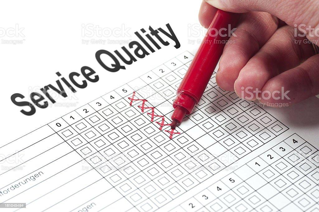 Service Quality survey stock photo