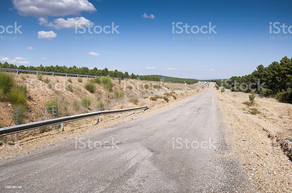 Service road stock photo