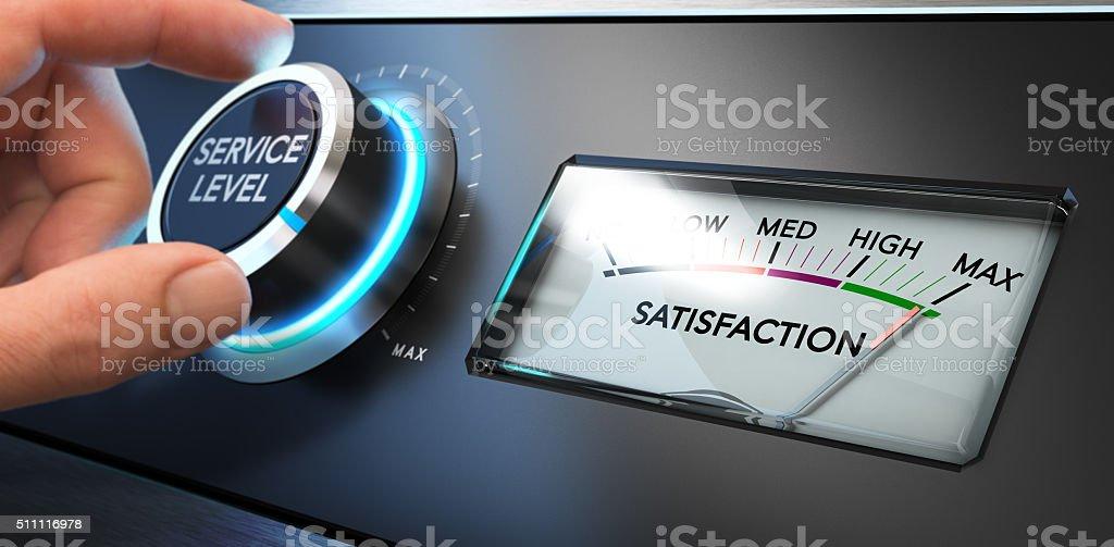 Service Satisfaction Indicator stock photo