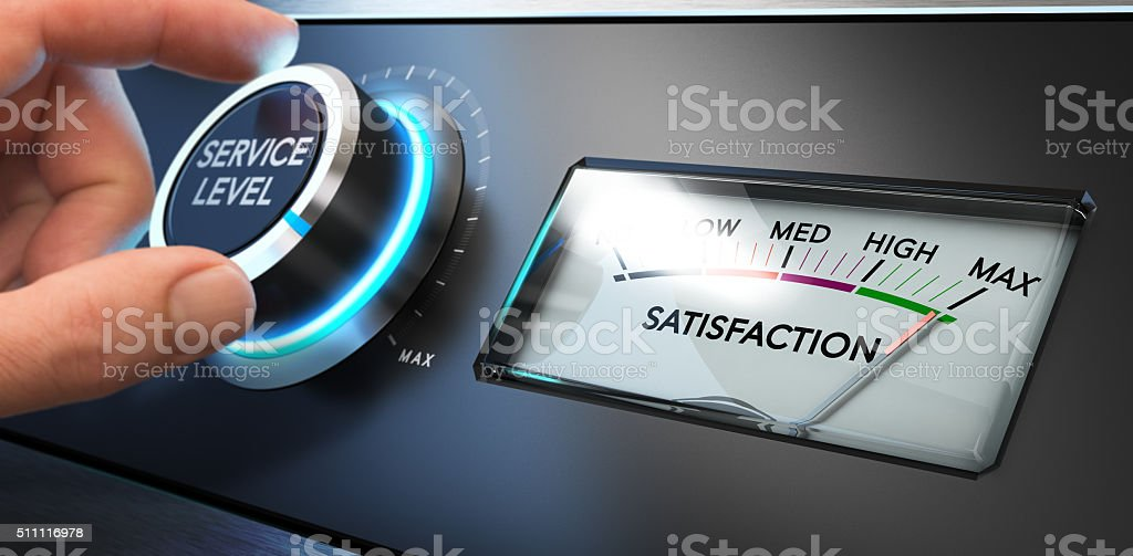 Service Satisfaction Indicator stock photo