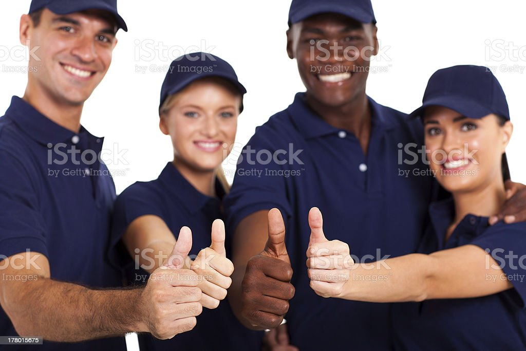 service staff thumbs up royalty-free stock photo