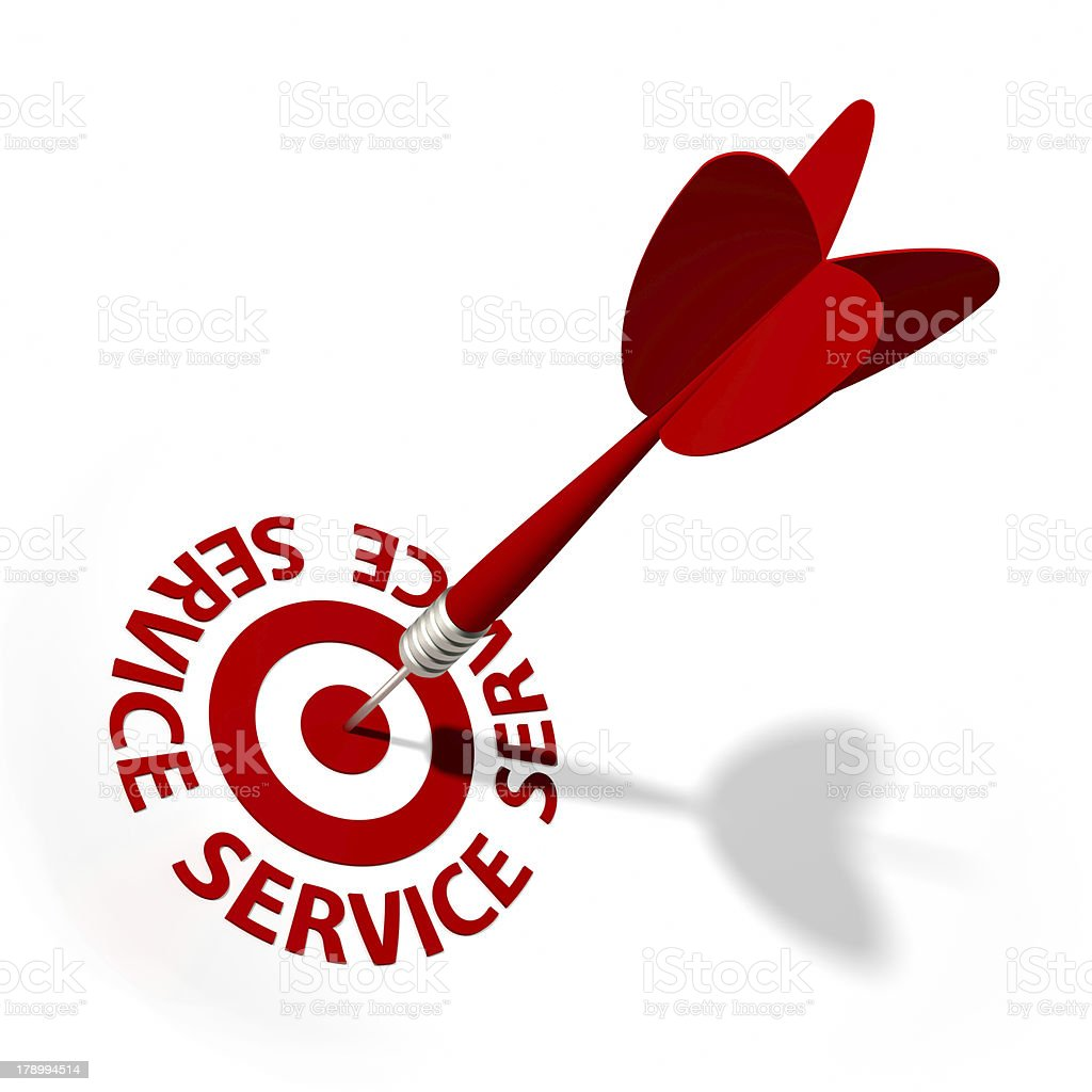 Service Target royalty-free stock photo