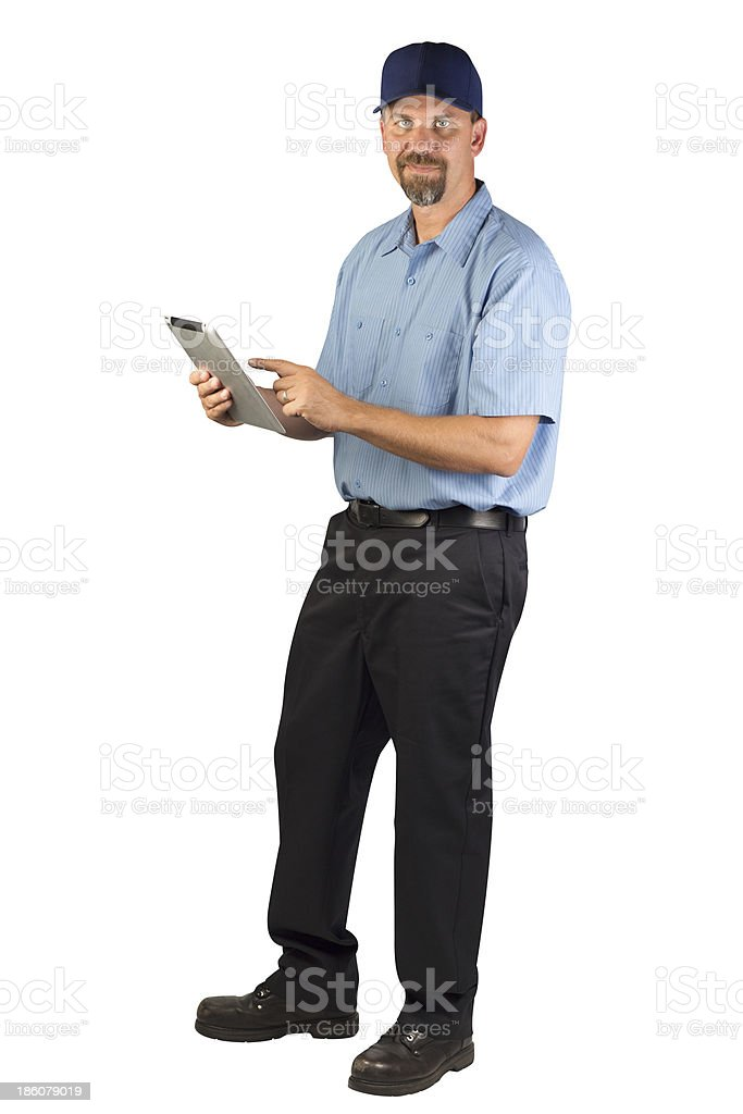 Service Technician Taking Order royalty-free stock photo