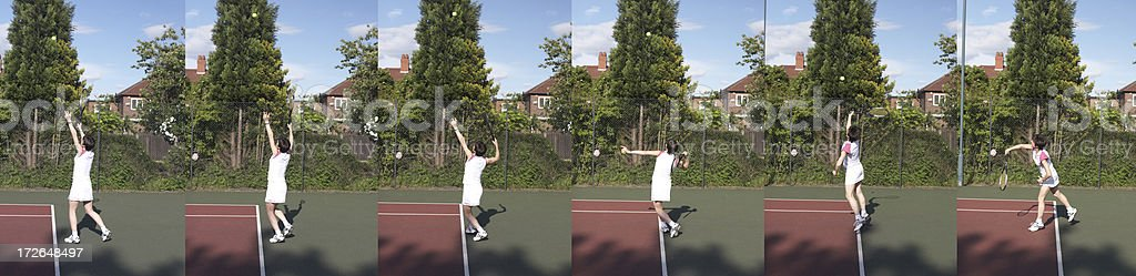 Service - Tennis royalty-free stock photo