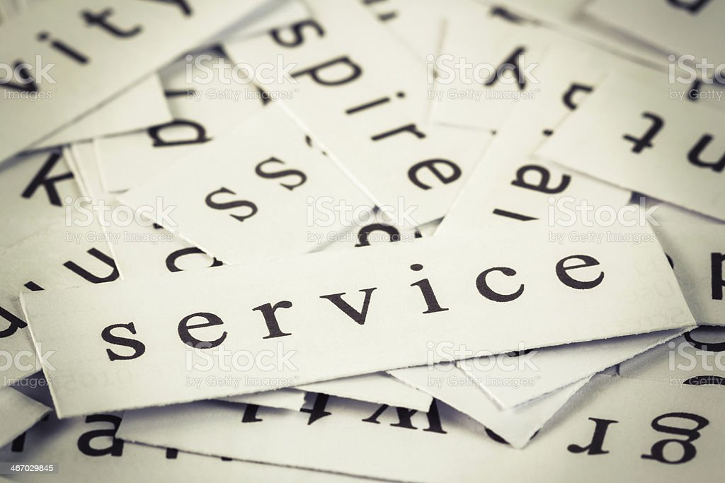 Service topic royalty-free stock photo
