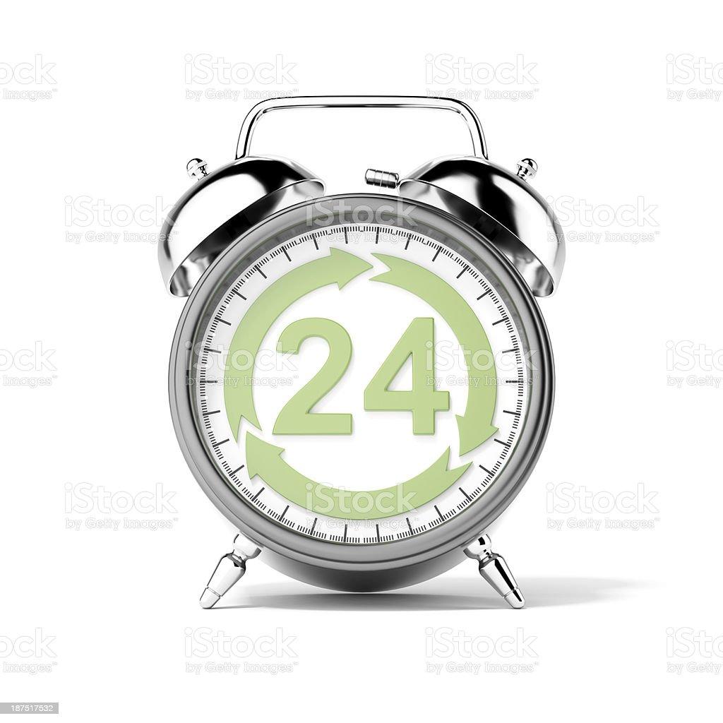 Service twenty-four hours stock photo