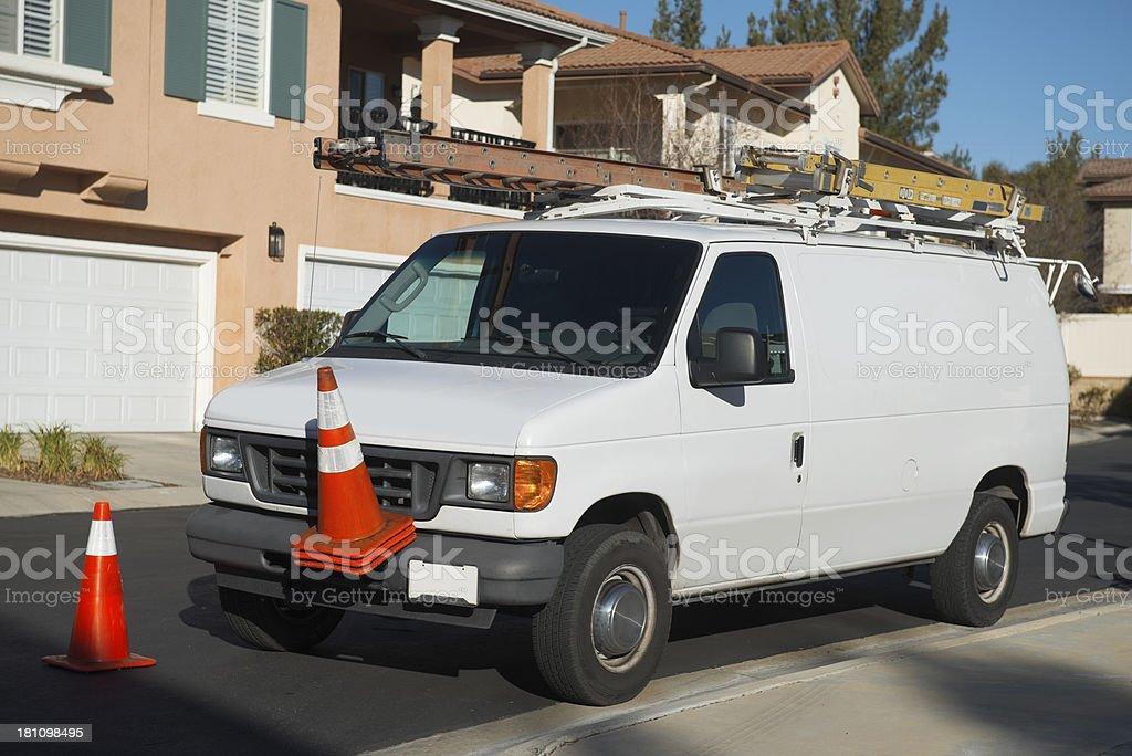 Service Van royalty-free stock photo