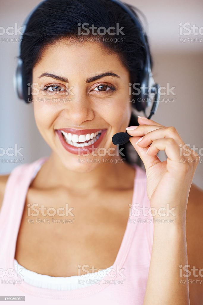 Service with a smile - Customer Services stock photo