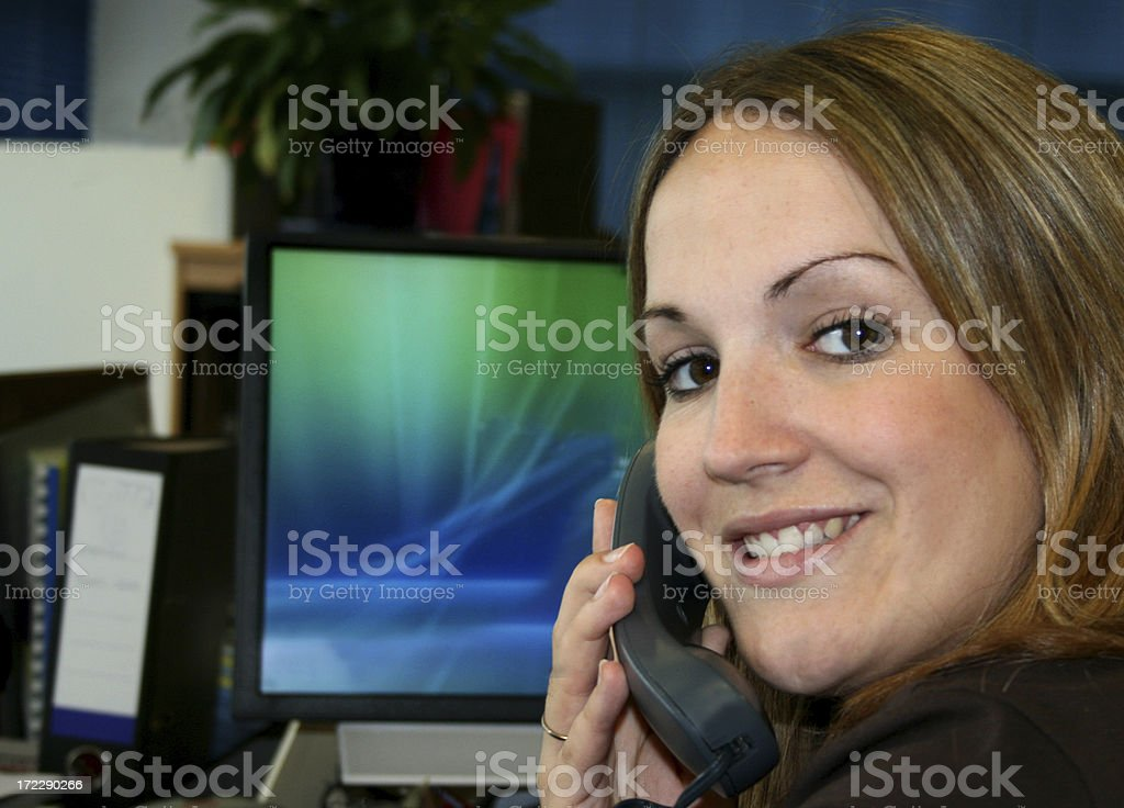 Service with a smile stock photo