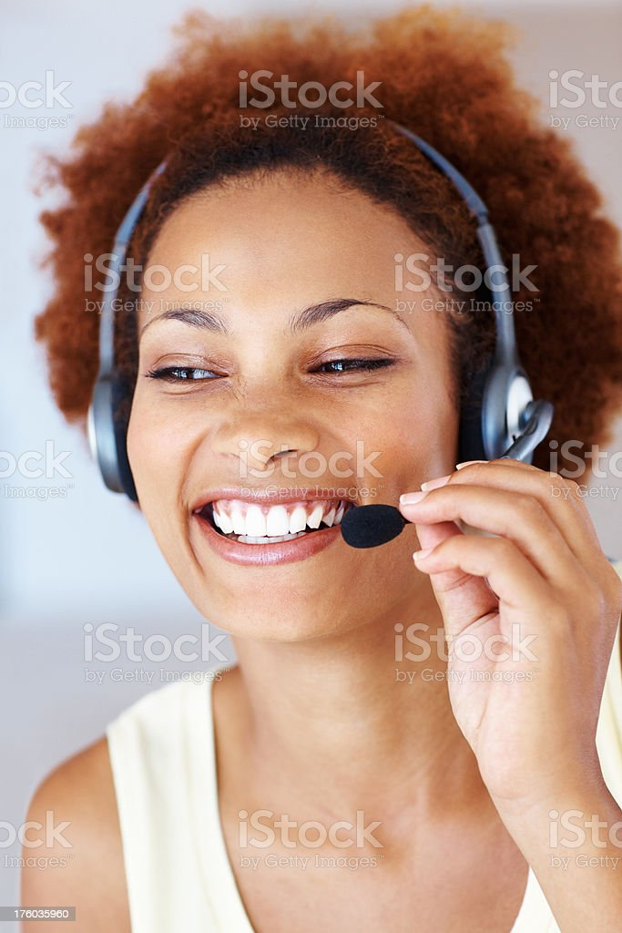Service with smile stock photo