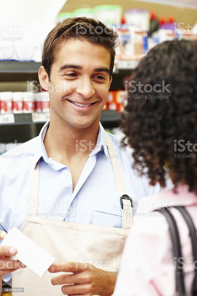 Service with smile royalty-free stock photo