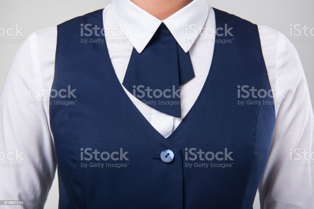 Service woman uniform stock photo