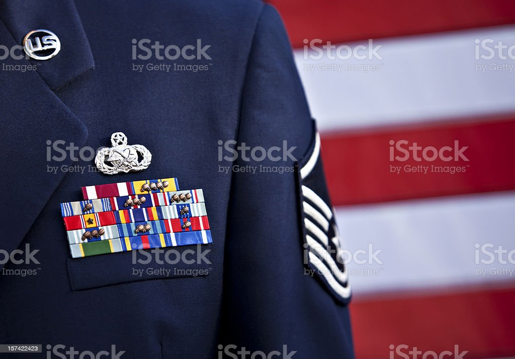 US Serviceman In Formal Dress stock photo