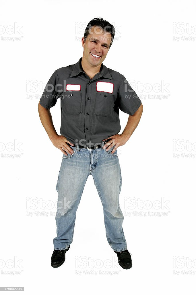 Serviceman royalty-free stock photo