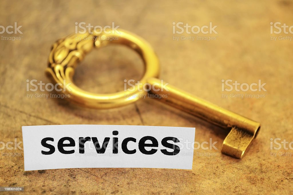 Services and key concept royalty-free stock photo