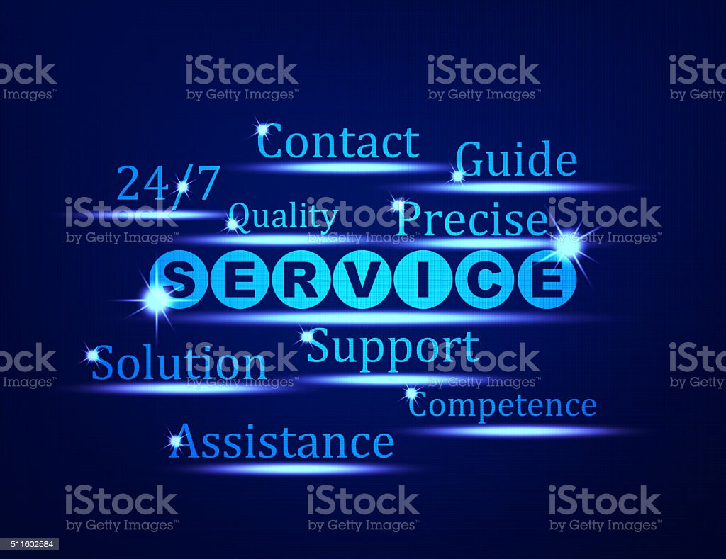 Service,Support,Assistance word concept stock photo