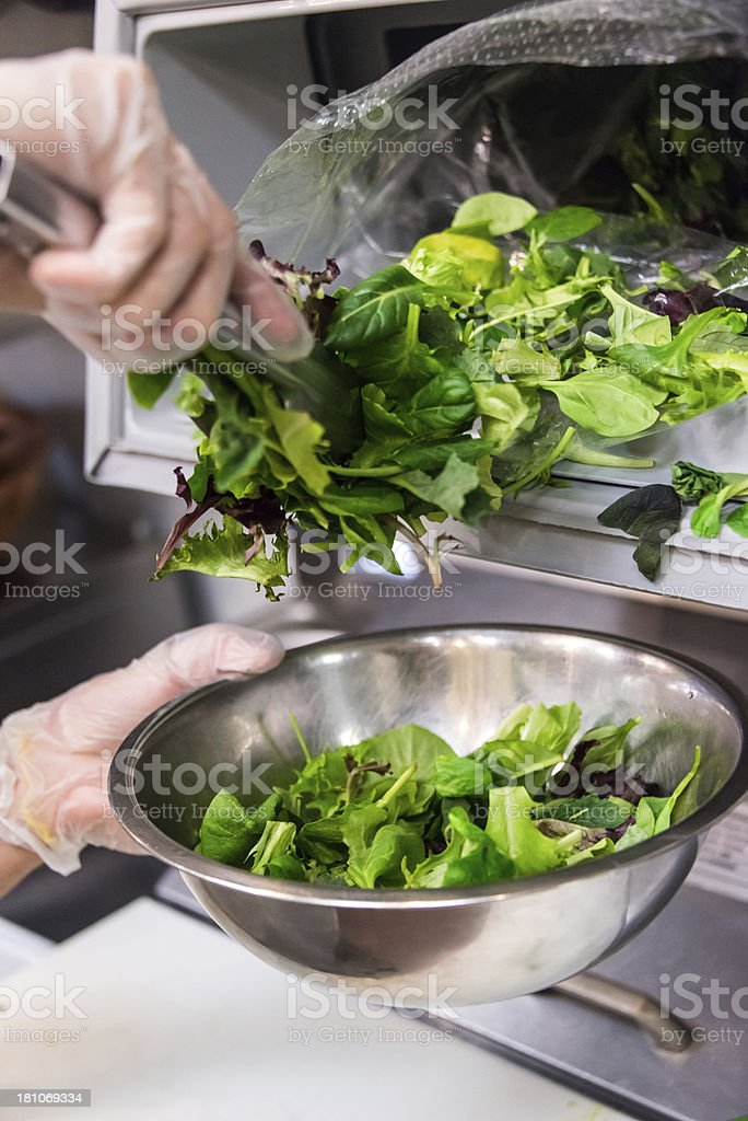 Serving a salad royalty-free stock photo