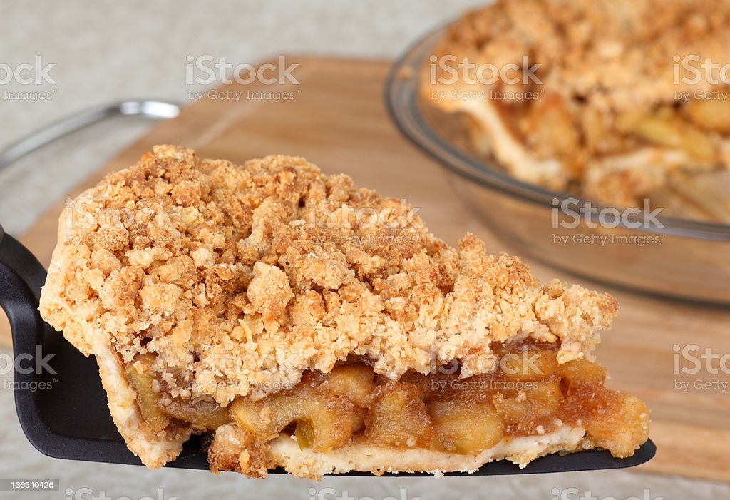 Serving Apple Pie stock photo