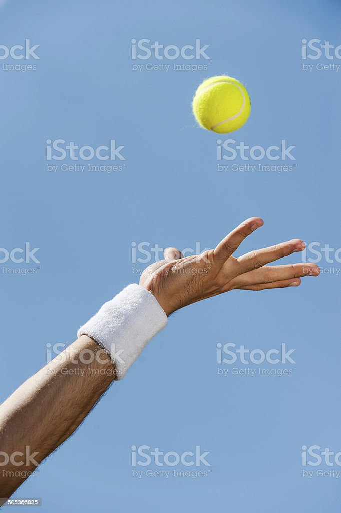 Serving ball. stock photo