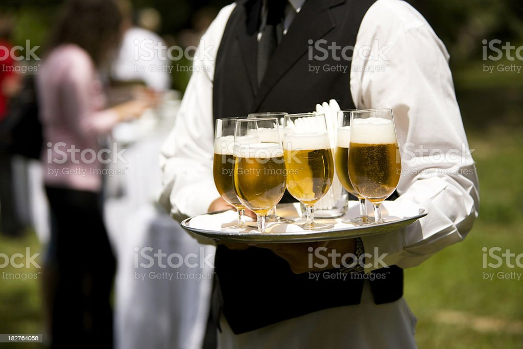 Serving beer royalty-free stock photo