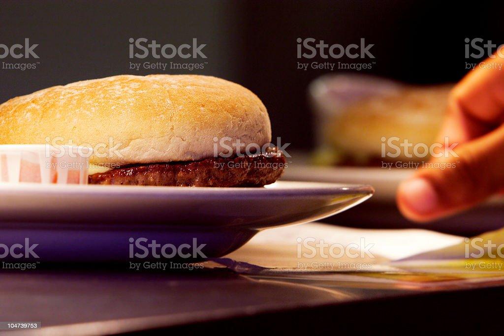 Serving Burger stock photo