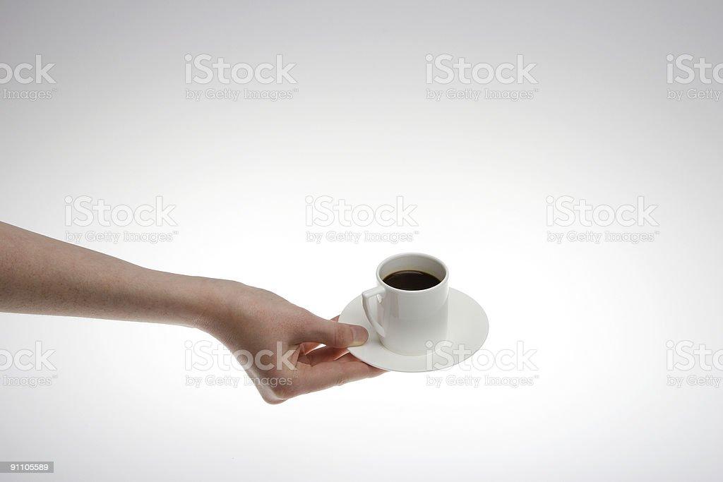 Serviert Kaffee Lizenzfreies stock-foto