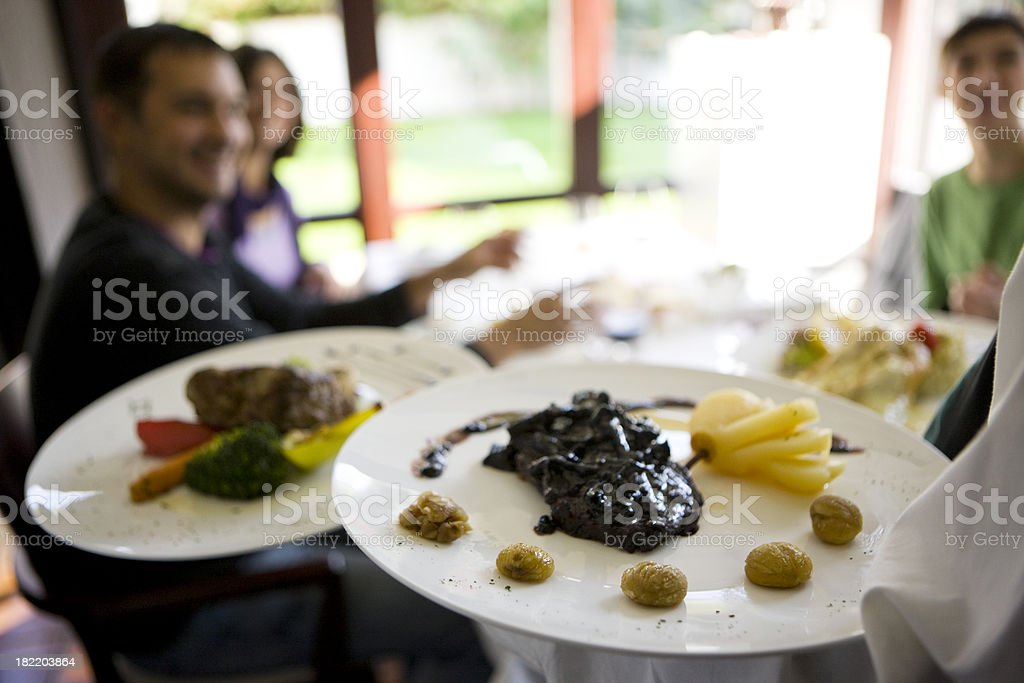 Serving course royalty-free stock photo