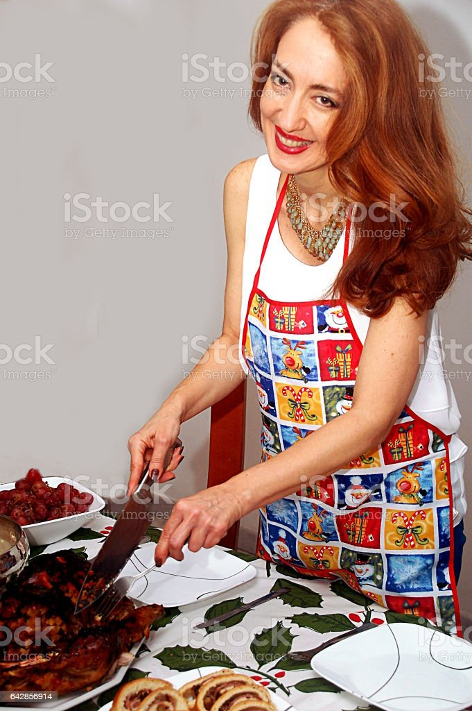 Serving diner stock photo