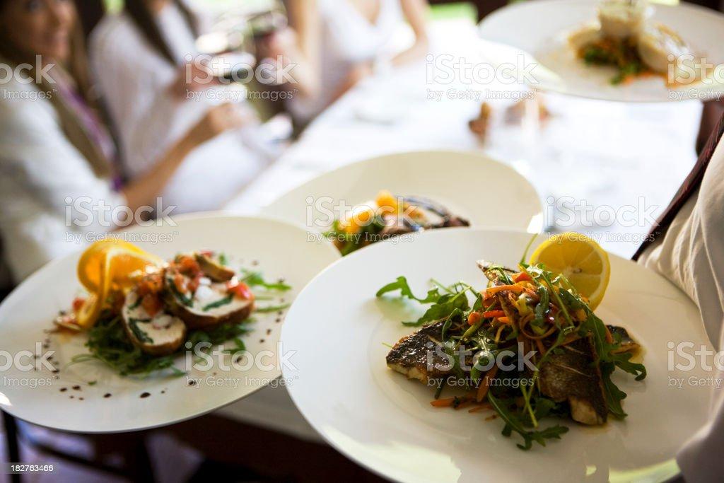 Serving dish stock photo