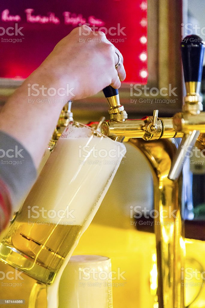 Serving Draught beer royalty-free stock photo