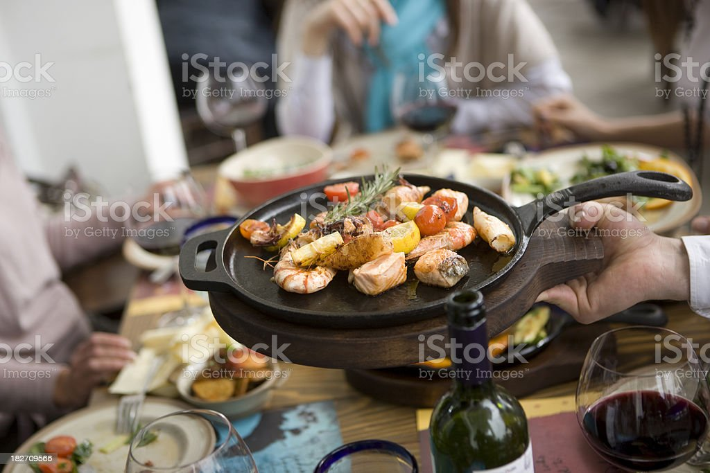 Serving food royalty-free stock photo