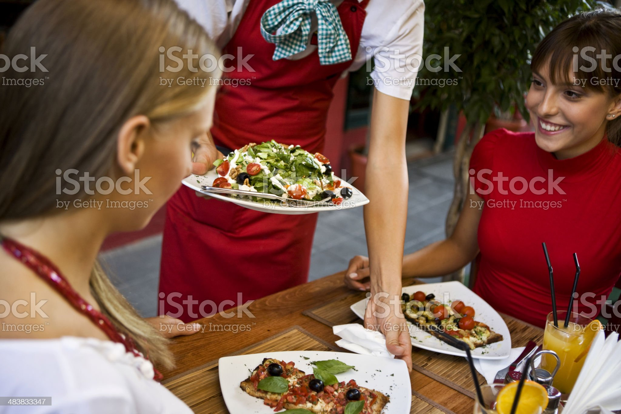 Serving healthy meal  XXL royalty-free stock photo