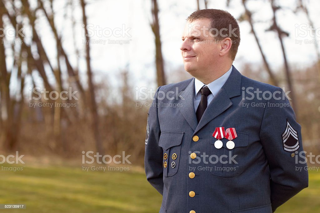 Serving his country stock photo