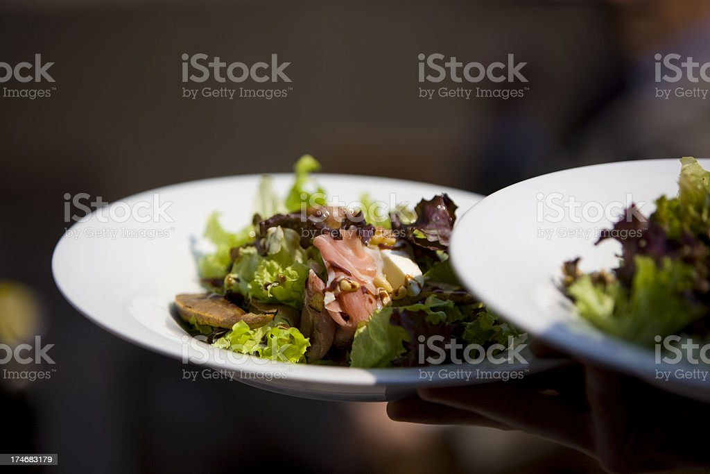 Serving meal royalty-free stock photo