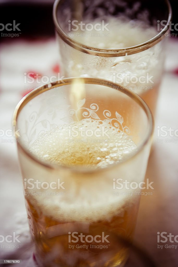 Serving moroccan green tea with mint royalty-free stock photo