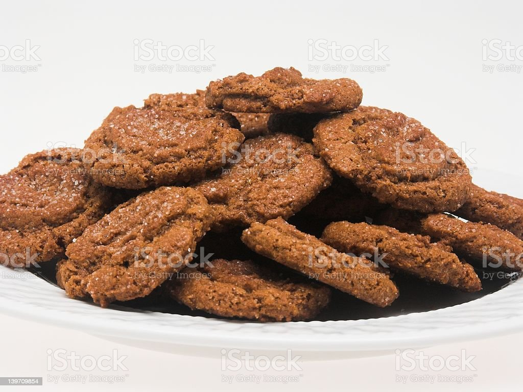 Serving of Cookies (close perspective) stock photo
